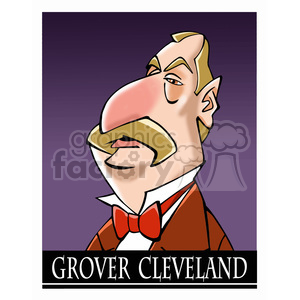 celebrity famous cartoon editorial-only people funny caricature grover+cleveland president 22nd