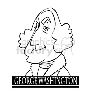 george washington black white clipart. Royalty-free image # 392945