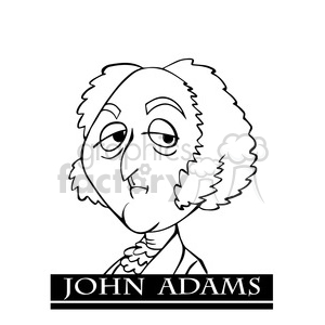 john adams black white clipart. Royalty-free image # 392955