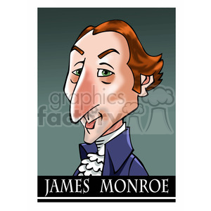 celebrity famous cartoon editorial-only people funny caricature james+monroe president 5th