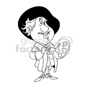 rembrandt van rijn black white clipart. Commercial use image # 392980