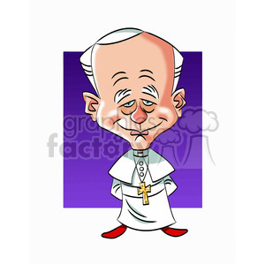 pope john paul II color clipart. Royalty-free image # 393002