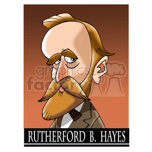 rutherford birchard hayes color clipart. Commercial use image # 393022