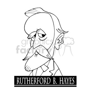 rutherford birchard hayes black white clipart. Royalty-free image # 393042
