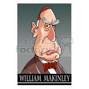 celebrity famous cartoon editorial-only people funny caricature william+mckinley president 25th