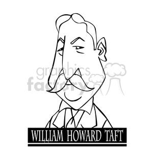 william howard taft black white clipart. Royalty-free image # 393062