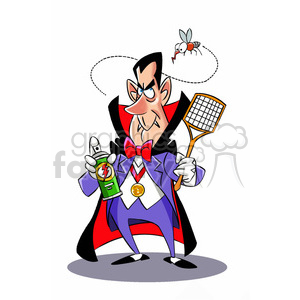 dracula cartoon with bug spray clipart. Royalty-free image # 393281