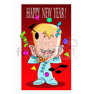 happy new year angry baby cartoon clipart. Royalty-free image # 393347