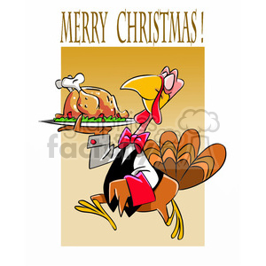 turkey serving christmas dinner clipart. Royalty-free image # 393367