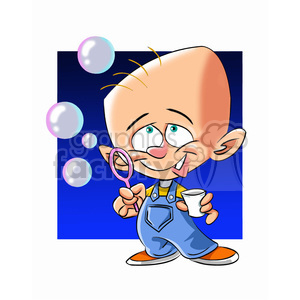 cartoon characters funny baby bubbles blowing child kid