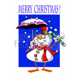 merry christmas snowman winter wonderland clipart. Royalty-free image # 393387