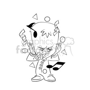 happy new year angry baby cartoon black white clipart. Royalty-free image # 393397