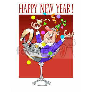 happy new year party guy clipart. Royalty-free image # 393455
