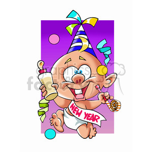 baby new year cartoon character clipart. Royalty-free image # 393505