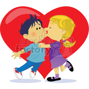 first valentines kiss clipart. Royalty-free image # 393535