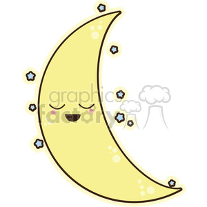 moon cartoon character clipart. Royalty-free image # 393545