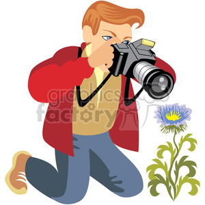 photographer illustration photos of flowers clipart. Commercial use image # 393622