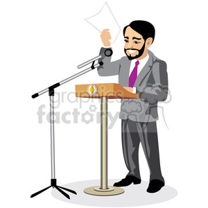 politician speaking at a podium clipart. Royalty-free image # 393626