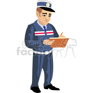 police officer writing a ticket clipart. Commercial use image # 393636