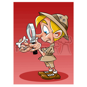 vector archaeologist cartoon character