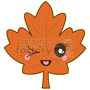 Maple Leaf vector clip art image clipart. Commercial use image # 393770
