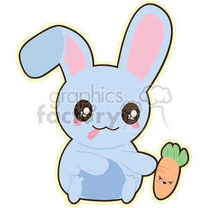 Bunny vector clip art image clipart. Commercial use image # 393790