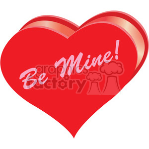 heart be mine clipart clipart. Royalty-free image # 393820