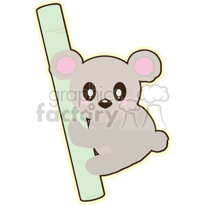 cartoon koala illustration clip art image clipart. Commercial use image # 393840