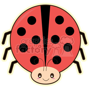 cartoon Ladybug illustration clip art image clipart. Commercial use image # 393860