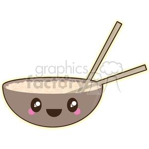 cartoon Rice Bowl illustration clip art image clipart. Commercial use image # 393870