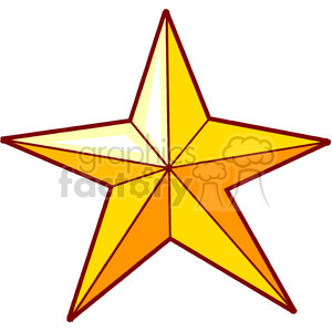 yellow cartoon star clipart. Royalty-free image # 150997