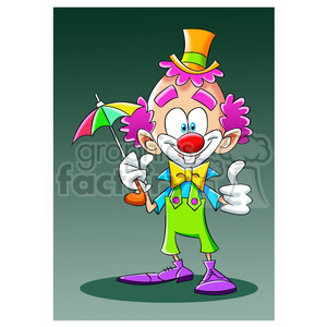 image of clown nino con difraz de payaso clipart. Royalty-free image # 393896