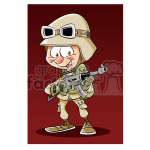 image of military soldier soldado clipart. Royalty-free image # 393976