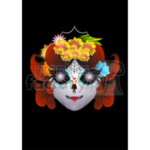 Day of the Dead 10 cartoon character illustration clipart. Commercial use image # 394126