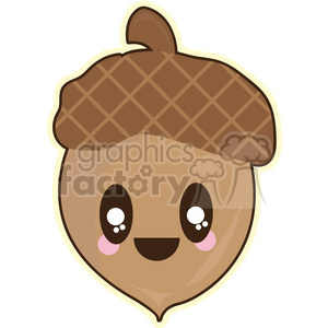 Acorn cartoon character illustration clipart. Royalty-free image # 394136