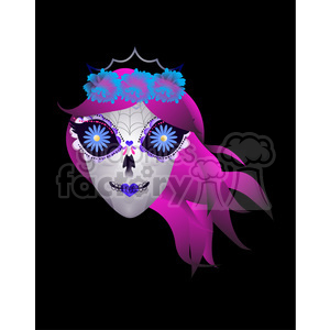 cartoon character cute funny fun happy day+of+the+dead mask skull face head