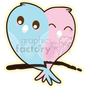 LoveBirds cartoon character illustration clipart. Royalty-free image # 394156