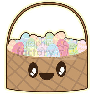 Easter Basket cartoon character illustration clipart. Royalty-free image # 394176