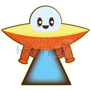Spaceship cartoon character illustration clipart. Royalty-free image # 394206