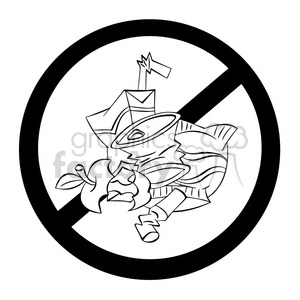 no littering sign clipart. Commercial use image # 394216