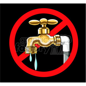 no water usage allowed sign clipart. Royalty-free image # 394246