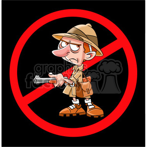 no safari hunting sign clipart. Commercial use image # 394261