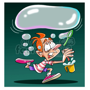 kid with huge bubble clipart. Royalty-free image # 394287