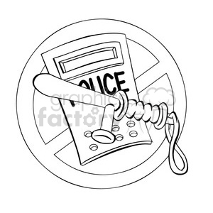no police brutality black and white clipart clipart. Commercial use image # 394307