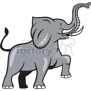 elephant marching side ISO clipart. Commercial use image # 394347