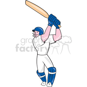 cricket player batting OL 1114 clipart. Commercial use image # 394387
