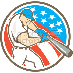 baseball hitter bat side low CIRC clipart. Commercial use image # 394437