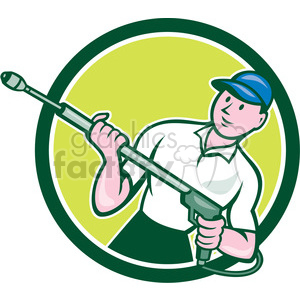 water blaster pressure washing front CIRC clipart. Commercial use image # 394497