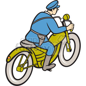 highway patrol policeman riding motorbike clipart. Commercial use image # 394547
