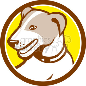 jack russell dog HEAD CIRC clipart. Royalty-free image # 394577